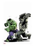 Incredibile Hulk No.78 Cover: Hulk Stretched Canvas Print by Lee Weeks