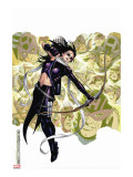 Young Avengers Presents No.6 Cover: Hawkeye Stretched Canvas Print by Jim Cheung