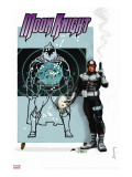 Moon Knight No.23 Cover: Bullseye Stretched Canvas Print