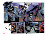 Ultimate Spider-Man No.52 Group: Black Cat, Spider-Man and Elektra Stretched Canvas Print by Mark Bagley