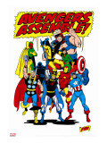 Giant-Size Avengers/Invaders No.1 Group: Thor Stretched Canvas Print by Buscema Sal
