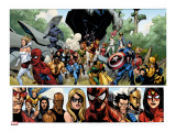 Secret Invasion No.1 Group: Captain America, Spider-Man and Vision Stretched Canvas Print by Yu Leinil Francis