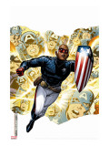 Young Avengers Presents No.1 Cover: Patriot Stretched Canvas Print by Jim Cheung