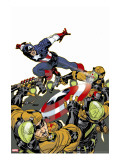 Captain America V4, No.26 Cover: Captain America Stretched Canvas Print by Dave Johnson