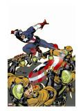 Captain America V4, No.26 Cover: Captain America Stretched Canvas Print by Dave Johnson