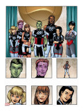 New X-Men: Academy X Yearbook Group: Anole Stretched Canvas Print by Jeanty Georges