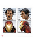 Invincible Iron Man No.9 Cover: Iron Man, Stark and Tony Stretched Canvas Print by Salvador Larroca