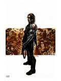Captain America No.11 Cover: Winter Soldier Stretched Canvas Print by Epting Steve