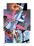 New Thunderbolts No.14 Group: Songbird, Photon and New Thunderbolts Stretched Canvas Print by Tom Grummett