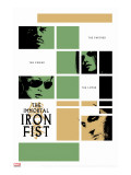 Immortal Iron Fist No.16 Cover: Cage, Luke and Iron Fist Stretched Canvas Print