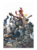 Amazing Fantasy No.3 Cover: Arana Stretched Canvas Print by Mark Brooks
