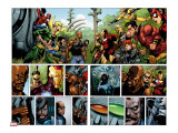 Secret Invasion No.1 Group: Iron Fist, Cage, Luke, Iron Man and Wonder Man Stretched Canvas Print by Yu Leinil Francis