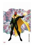 Young Avengers Presents No.4 Cover: Vision Stretched Canvas Print by Jim Cheung