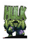 Marvel Adventures Hulk No.4 Cover: Hulk Stretched Canvas Print by David Nakayama