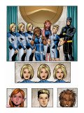 New X-Men: Academy X Yearbook Group: Stepford Cuckoos Stretched Canvas Print by Jeanty Georges