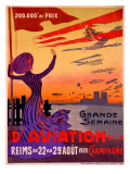 French Aviation Week Air Show Poster Giclee Print