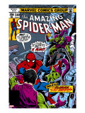 Spider-Man Family #6 Cover: Spider-Man and Green Goblin Reproducción en lienzo de la lámina por Andru Ross