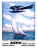 Helsinki Aero Sailboat Poster Giclee Print