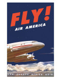 50&#39;s Fly Air America Constellation Poster Prints