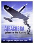 WWII Army Air Corps Airacobra P40 Prints