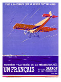 French Mediteranean Aviation Flight Poster Art