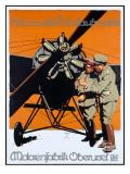 WWI German Aviation Motorenfabrik Oberursel Digitálně vytištěná reprodukce