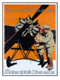 WWI German Aviation Motorenfabrik Oberursel Poster