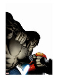 Ultimate Human No.3 Cover: Hulk and Iron Man Stretched Canvas Print by Nord Cary