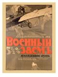 WWI Russian Biplane Fighter Poster Digitálně vytištěná reprodukce