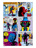 Giant-Size Avengers/Invaders No.1 Headshot: Kang Stretched Canvas Print by Buscema Sal