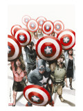 Captain America: The Chosen No.6 Cover: Captain America Stretched Canvas Print by Mitchell Breitweiser