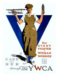 For Every Fighter a Woman Worker/United War Work C Prints