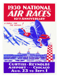 1930 National Air Race Aviation Poster Giclee Print