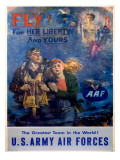 WWII Army Air Corps Recruiting Poster Fly Print