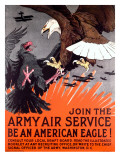 Join the Army Air Service War Eagle Poster Giclee Print