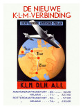 KLM Royal Dutch Airline World Poster Poster