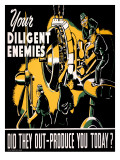 Your Diligent Enemies Production Poster Posters