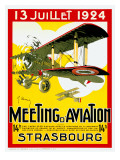 Strasborg Aviation Exposition Poster Giclee Print