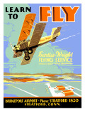 Learn to Fly Curtiss Flight School Poster