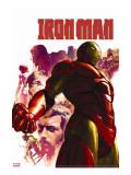 Iron Man No.15 Cover: Iron Man, Hulk, Thor, Stark and Tony Reproduction transférée sur toile par Parel Gerald