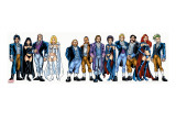 Handbook: X-Men 2005 Group: Emma Frost, Black Queen, Hellfire Club and White Queen Stretched Canvas Print by Greg Shigiel