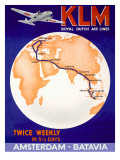 KLM Royal Dutch Airlines Poster - Giclee Baskı