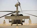 Crew Chiefs Stand Beside their UH-60L Black Hawk Helicopter Photographic Print