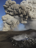 Eyjafjallajökull Eruption, Steaming Lava Bomb Impact Crater, Iceland Photographic Print