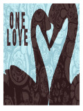 Swan Silhouette One Love Posters by Lisa Weedn