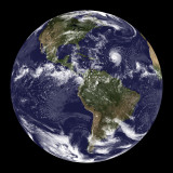 Full Earth Showing North America and South America Photographic Print