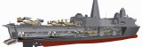 Cutaway Illustration of the US Navy's San Antonio Class Amphibious Transport Dock Ship Photographic Print