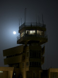 Cob Speicher Control Tower under a Full Moon Photographic Print