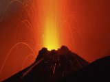 Stromboli Eruption, Aeolian Islands, North of Sicily, Italy Photographic Print