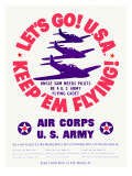 WWII US Army Air Corps 'Let's Go' Prints